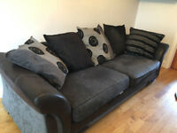 BLACK GREY SOFA 4 SEATER GOOD CONDITION