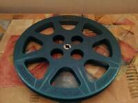 1 Tuscan Cinematic Ltd made in england 800ft 50 metres film reel green blue
