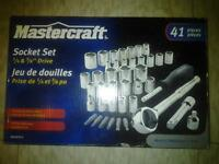 MASTERCRAFT SOCKET SET 41IECES BRAMD NEW