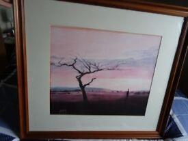 Framed Picture of African Plain Scene