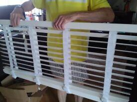 White venetian blind 120x130cm with tapes - 50mm slats