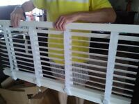 White venetian blind 120x130cm with tapes - 50mm slats