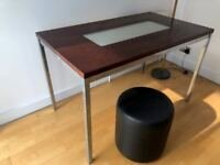 Wood table with glass centre - £35 OBO