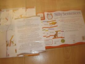SILLY SENTENCES GAME - IMMACULATE & COMPLETE Age 4-7 for 1-4 players FUN & EDUCATIONAL great quality