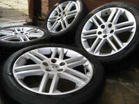 vauxhall vectra SRI alloy wheels , 17 inch 5 stud + saab / alfa romeo