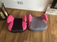 Two girls car booster seats