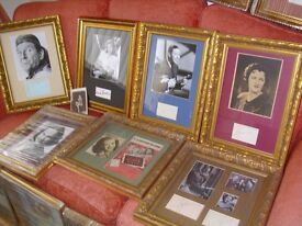 Large collection of Original Vintage signed Autographs