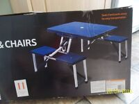 All in one folding 4 seater and table picnic set.