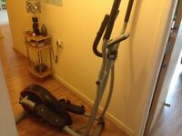 One month old used Excercise bike digital clock with all fitness monitoring system