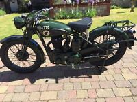 1941 BSA WM20 Despatch Riders Motorcycle - Fully Restored and Road Licenced
