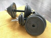 40kg BodyMax Deluxe Adjustable Hammertone Dumbbell Set   Open to offers