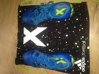 Adidas X 15.1 size 7 football boots, comes with official string bag