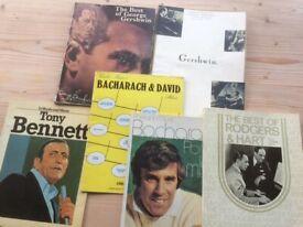 Bundle of 6 piano sheet music books by Gershwin,Bacharach etc