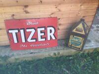 Tizer enamel sign