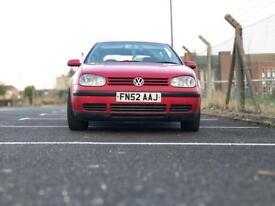 Red VW GOLF MK4 1.4L PETROL 2002