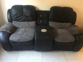 Lazy boy recliner sofa and music system