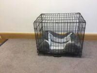 Small black Dog Cage