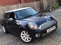 2007 MINI ONE 1.4 PETROL MANUAL 3 DOOR HATCHBACK BLACK AND WHITE GREAT DRIVE N COOPER 1 SERIES A3 KA