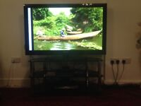 """USED 52"""" SAMSUNG TV WITH TV STAND VERY GOOD QUALITY"""
