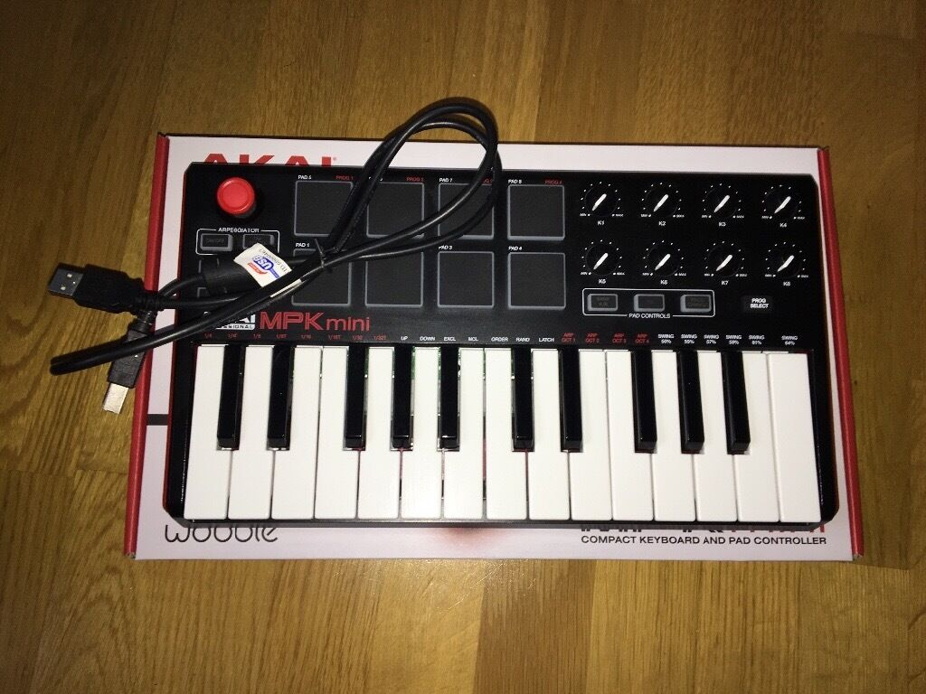 akai mpk mini mk2 midi keyboard sold in manor house. Black Bedroom Furniture Sets. Home Design Ideas