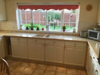 Complete kitchen with hob and double oven for sale
