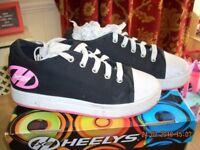Heelys X2 Fresh Girls Wheeled Roller Shoe Black Pink - Size J11>5UK