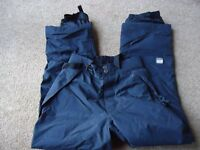 """Quicksilver"" Snowboard Black Trousers in excellent condition."
