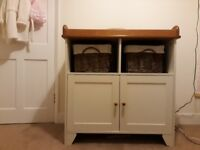Beautiful solid wood baby changing/storage unit