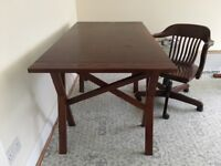 Laura Ashley wooden desk and chair