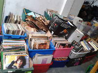 Job Lot Over 30 Boxes of Vinyl Records - LP's / Singles / 78's