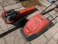 Flymo Compact 380 mower & also Garden Vac, all cables included..380 mower has a large cutting area.
