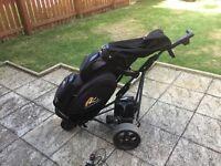 Powakaddy Electric golf trolley and cart golf bag