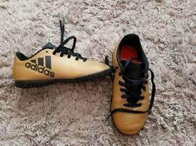 Boys Adidas astro turf trainers