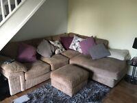 Corner settee and storage footstool