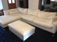 Ivory corner sofa