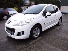 2012 Peugeot 207 1.4 (petrol) Sportium 3 door *** damaged repairable ***