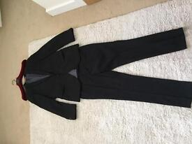 SUIT JACKET AND TROUSERS, BLACK