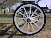 horse carriage wheels different sizes