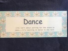 Dance Wall Sign