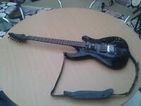 Aria wildcat guitar with old original case.