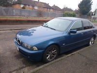 BMW 5 SERIES E39 520I PETROL AUTOMATIC BLUE 2002 MODEL MOT SEP 2017