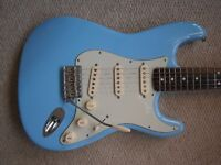 FENDER STRATOCASTER USA 1960s REPLICA Rivals a Custom Shop 60s Strat reissue. Daphne. Musikraft neck