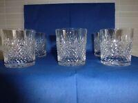6 Edinburgh Crystal Whisky Glasses