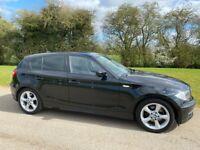 BMW - 1 SERIES - Metallic Black - 5 door Hatchback - 2010 -Half leather
