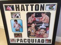 Signed pacquiao and Hatton