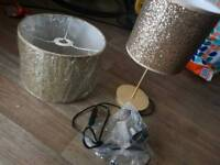Lamp and ceiling shade (brand new)