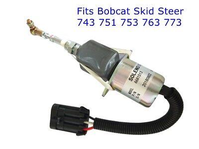 New Fuel Shut Off Solenoid For Bobcat 743 751 753 763 773 Skid Steer 6681513