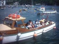 For sale 32 ft classic wooden passenger/ fishing boat Fowey Cornwall