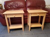 2 Wooden Occasional Side Tables