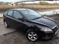 2010 MODEL FOCUS 1.6 5 DOOR WITH ONLY 70K MILES..12 MONTHS MOT..ALLOYS..PANTHER BLACK..FULL HISTORY